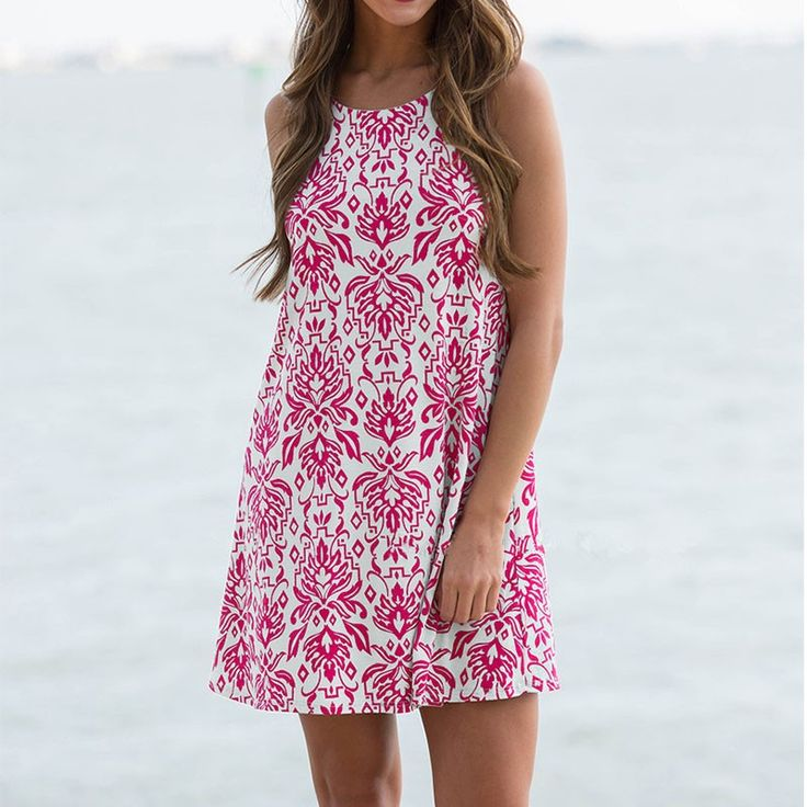 """Women's Pink/White Damask Print Sleeveless Sundress Shift Dress     Happy Weekend!!      **Online Orders 25% off  **Use code """"25off""""**"""