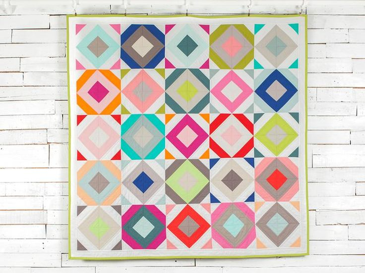 Incorporate fresh colors and crisp lines into your next quilt with this precut-friendly top.