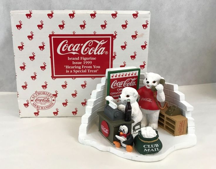 Coca Cola HEARING FROM YOU IS A SPECIAL TREAT 1999 Polar Bears Figurine | Collectibles, Advertising, Soda | eBay!