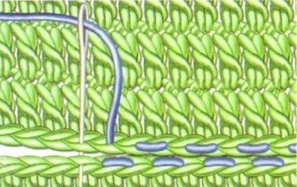 Соединение вязаных крючком деталей швом «вперед иголку»