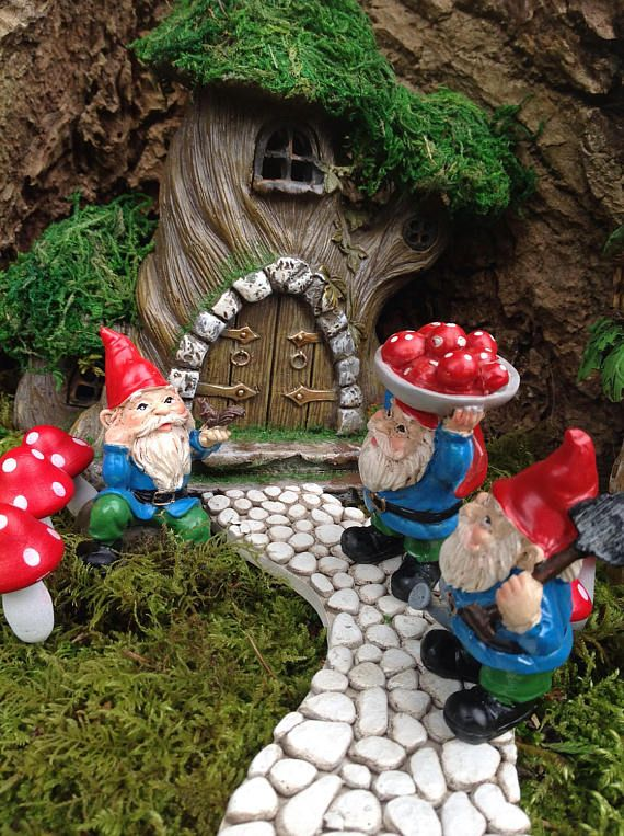 Gnome Garden: 3013 Best Images About Fairy Gardens On Pinterest