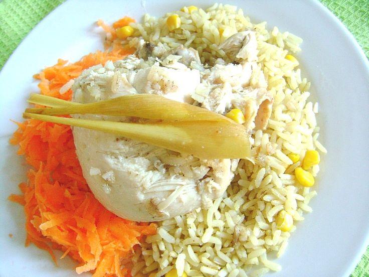 Kurczak nadziewany ryżem z trawą cytrynową