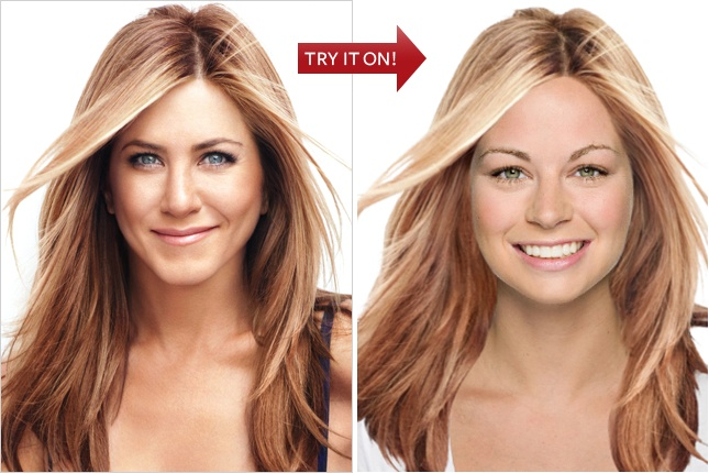 A little addicted to Instyle's Hollywood Hair Virtual Makeover.  Upload your photo and try on celebrity hairstyles