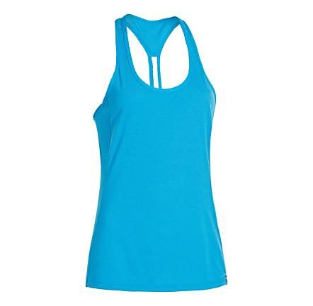 Womens Under Armour UA Fly-By Stretch Mesh Tank Technical Tops