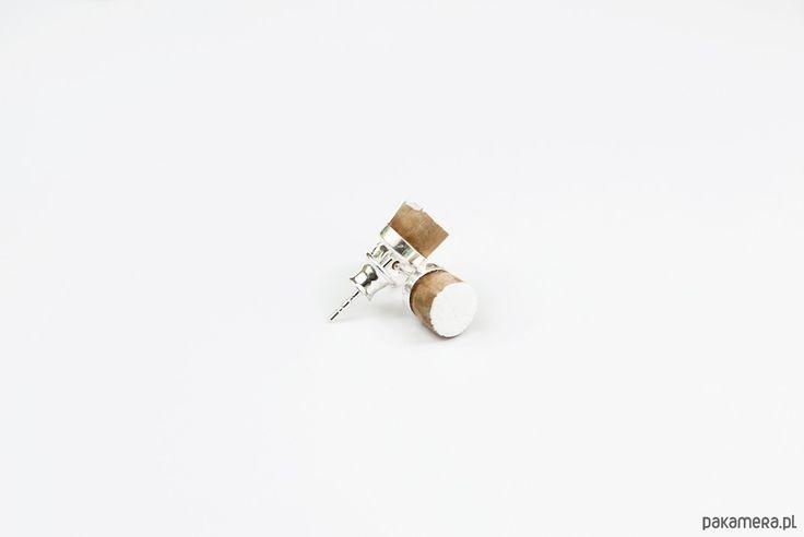 kolczyki - drewno-forest earrings