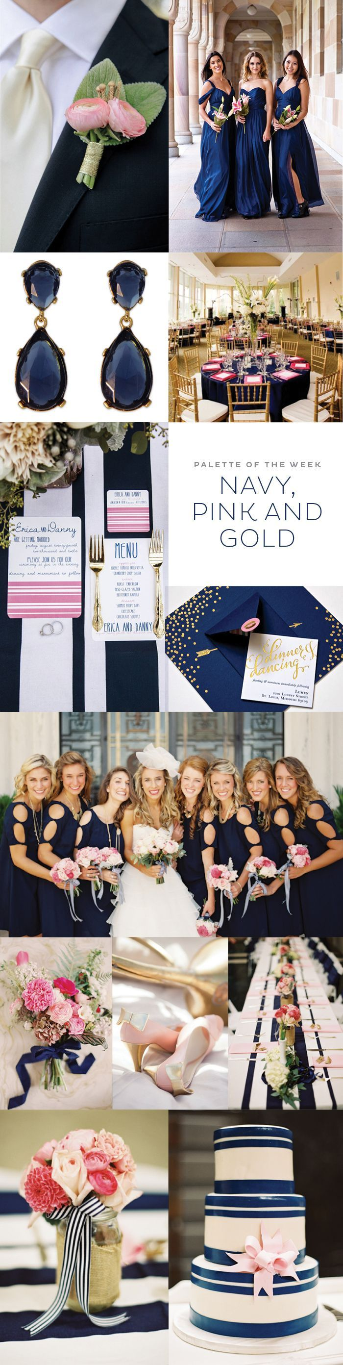 Navy, Pink & Gold wedding- if I don't do a wedding that's solely pink and gold: