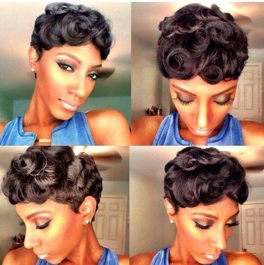 Pin curl short black hair the best black hair 2017 best 25 pin curls short hair ideas on finger waves urmus Images