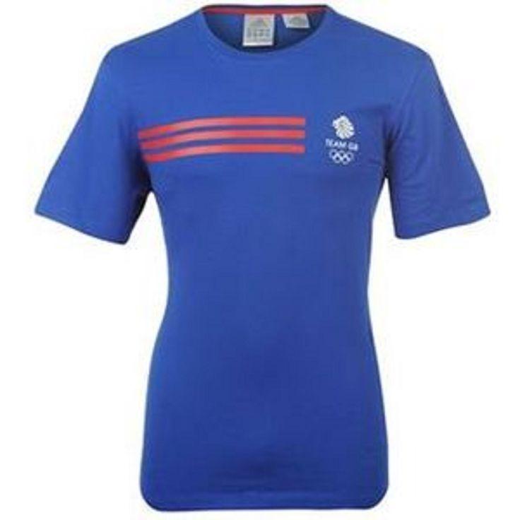 adidas Olympics Team GB Logo T Shirt Mens Blue/Red: adidas Olympics Team GB Logo Mens Blue / Red / White T-Shirt The Mens… #WrekinSportswear