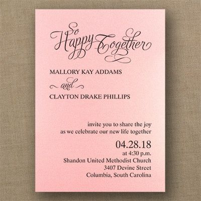 29 best Pink Wedding Invitations images on Pinterest Invitation - invitation for a get together
