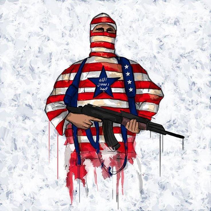 Giuseppe Skid Truscelli - USA is ISIS - illustration