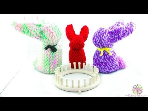 Knitting Loom - Strickring Osterhase | Hase | Bunny - YouTube