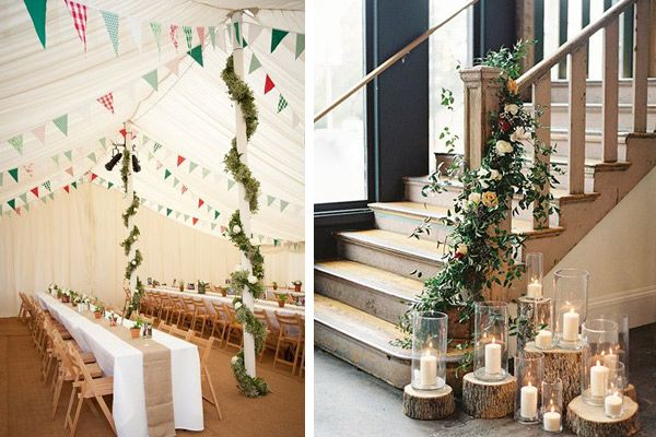 Diez ideas para transformar lugar boda bodas elblogdemar ajos ideas inspiraci n recepci n - Columnas decoracion interiores ...
