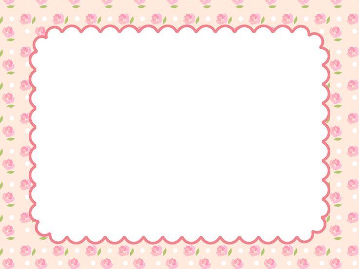 バラの模様のもこもこフレーム飾り枠イラスト 無料イラスト かわいいフリー素材集 フレームぽけっと 無料 イラスト かわいい 飾り枠 枠 イラスト 無料