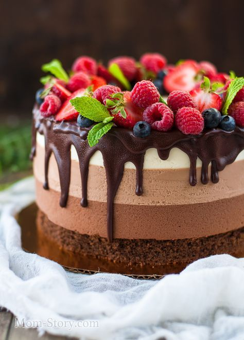 Торт Три шоколада рецепт с пошаговыми фото подробно