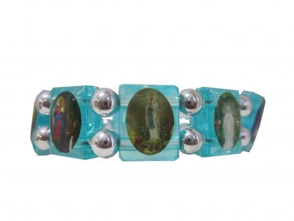 Bracelet  bleu Apparitions Mariales