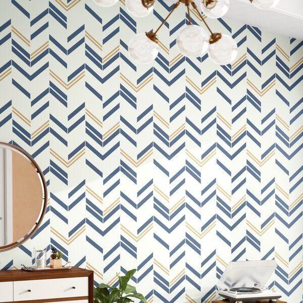 Timm Chevron And Herringbone 16 5 L X 20 5 W Peel And Stick Wallpaper Roll Wallpaper Roll Backsplash Wallpaper Peel And Stick Wallpaper