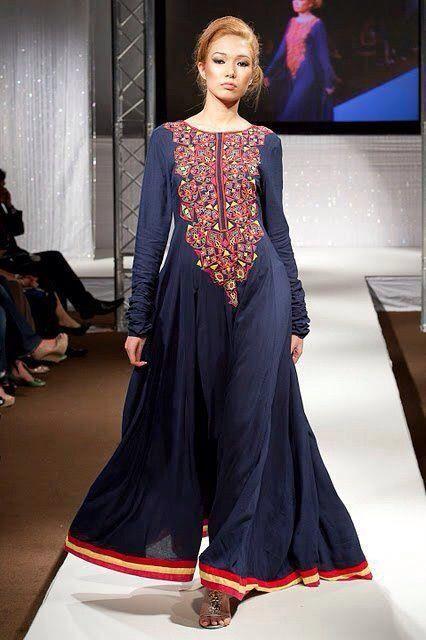 Blue color pakistani suit
