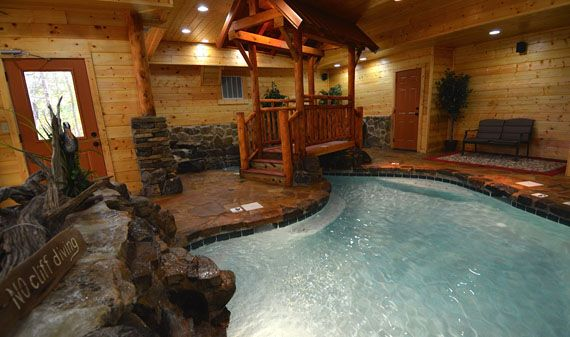 A pool in the living room?  Why, don't mind if I do thank you very much!  (Pigeon Forge Cabins - Copper River)