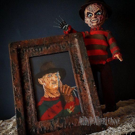 Robert Englund as Freddy Krueger 4x6 painting  rusty boiler