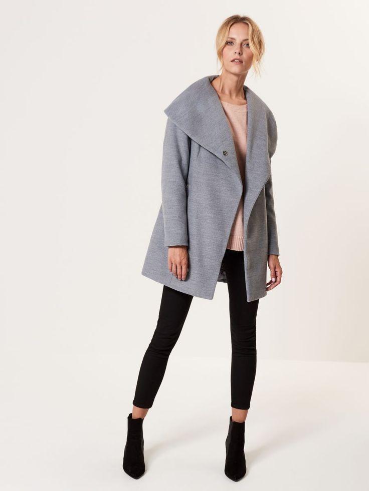 Palton căptușit cu guler călduros, MOHITO, RL133-09X