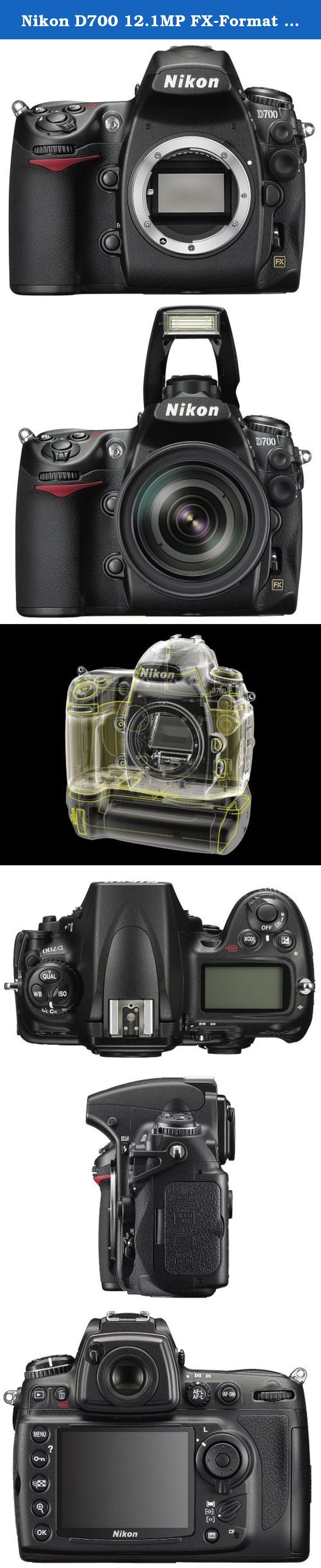 Nikon D700 12.1MP FX-Format CMOS Digital SLR Camera with 3.0-Inch LCD (Body Only) - International Version (No Warranty). The Nikon D700 SLR Digital Camera (Body Only) brings professional imaging with a full-frame image sensor to a lightweight yet durable camera body. It features the exclusive 12.1 Megapixel FX-format CMOS sensor, measuring 23.9 x 36mm, which is nearly identical to the size of a 35mm film frame - thereby eliminating any significant crop factor or focal length multiplier....