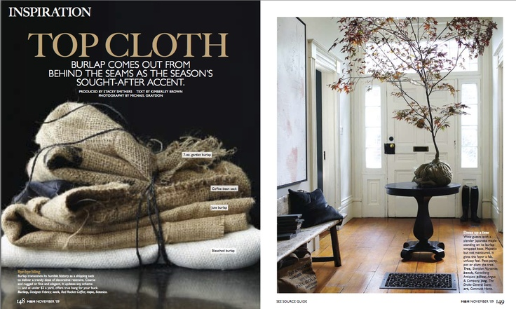 "Gold winner in Homes & Gardens. ""Top Cloth"" by Michael Grayton and Maarten Sluyter published in #Canadian Home & #Country, 2009."