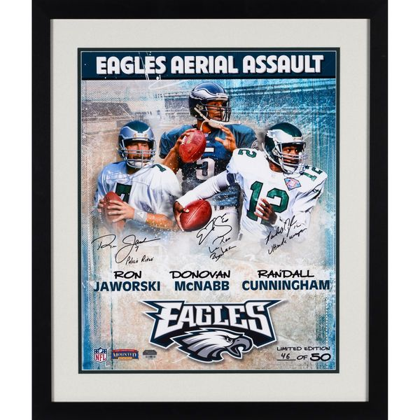 "Donovan Mcnabb, Randall Cunningham, and Ron Jaworski Philadelphia Eagles Fanatics Authentic Framed Autographed 16"" x 20"" Collage Photograph with Multiple Inscriptions-Limited Edition of 50 - $474.99"