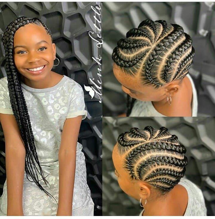 Ghanaian Hairstyles On Instagram Neatly Braided Iamminklittle Lemonadebraids Kids Hairstyles Lemonade Braids Hairstyles Kids Braided Hairstyles