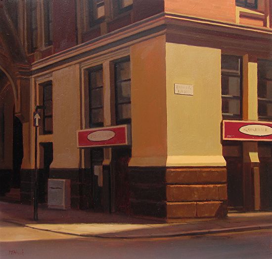 Michael John Ashcroft - Butter Lane Manchester- Oil - Painting entry - October 2014 | BoldBrush Painting Competition