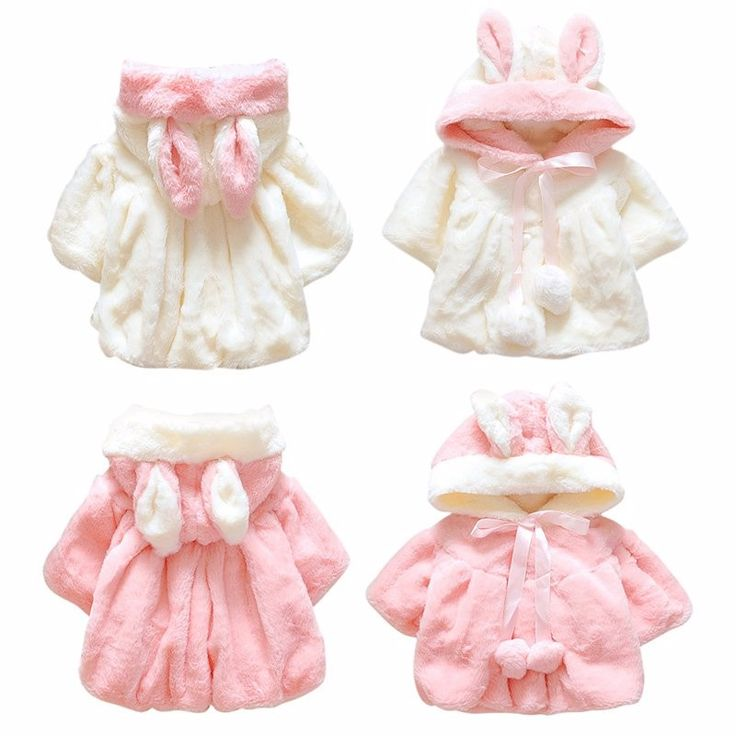 Awesome Winter Warm Cute Baby Girl Coat Bunny Hooded Batwing Toddler Girl Solid Rabbit Ears Coat - $23.58 - Buy it Now!