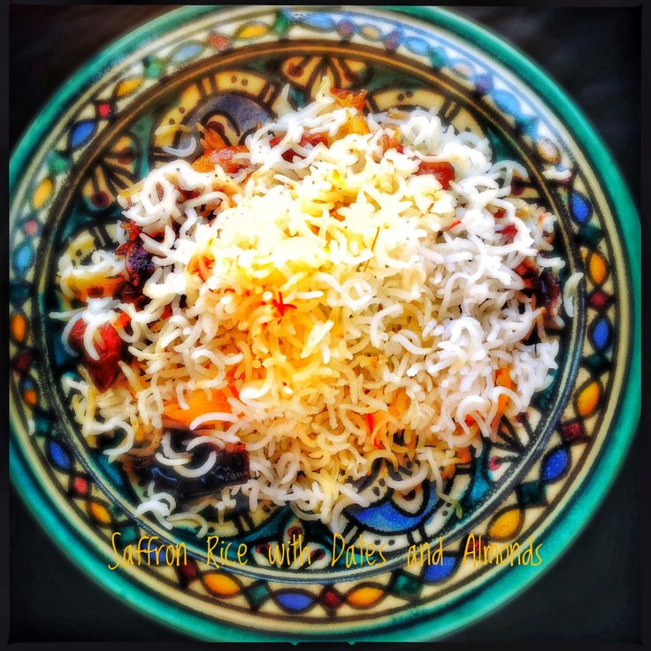 Saffron Rice with Dates and Almonds