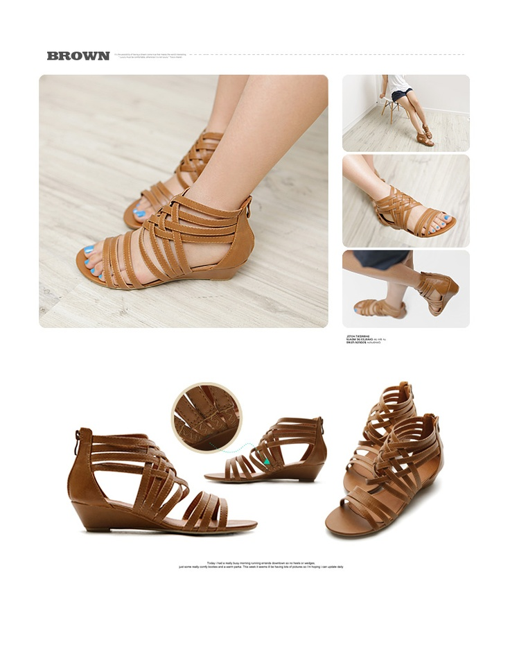 NEW Womens Shoes Gladiator Wedge Low Heels Multi Colored Sandals