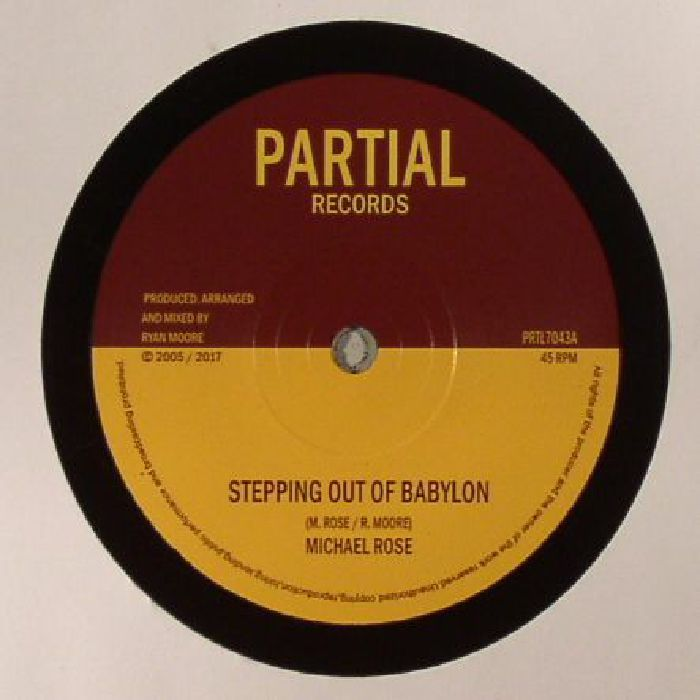 The artwork for the vinyl release of: Michael Rose   Twilight Circus - Stepping Out Of Babylon (Partial) #music Dub