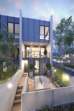 Elevation Townhouses In Melbourne By Conrad Architects