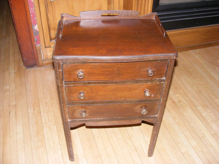 Antique Sewing Machine Cabinet Spool And Storage Drawer