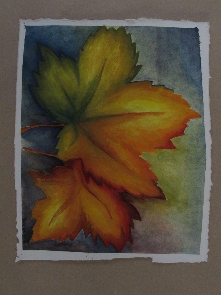 Leaves. Student work at Odder Højskole 2013. #autumn #odderhøjskole #kunstskole #højskole #artschool