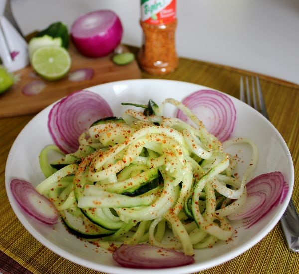 Spiced Cucumber Salad with lime juice and Tajin seasoning