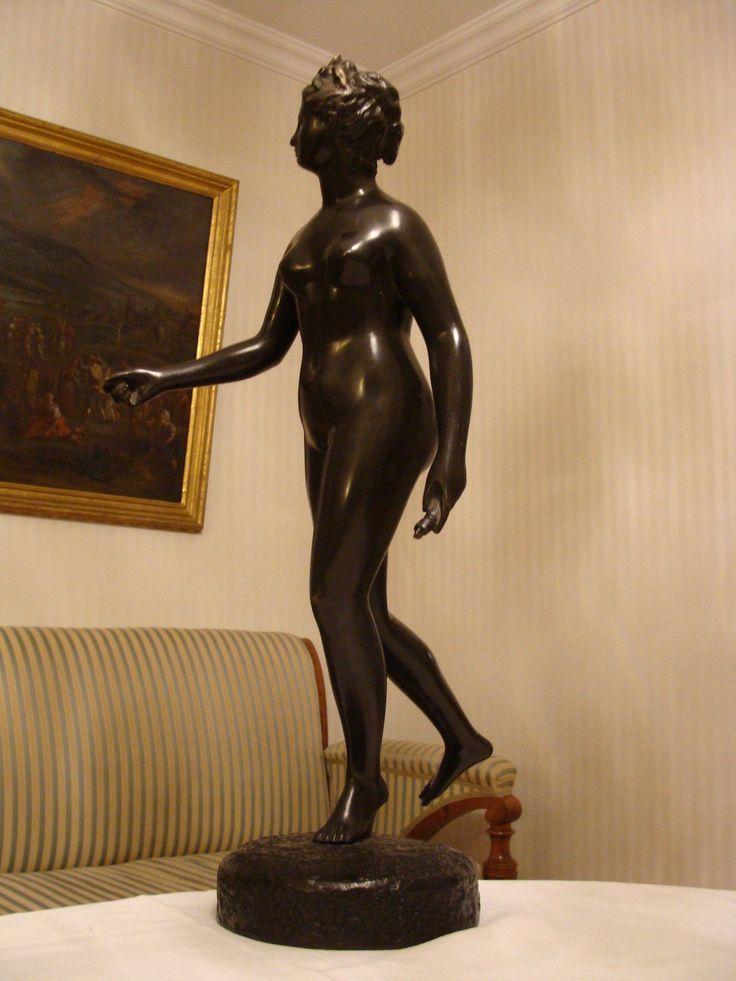 Alte Bronze Figur Akt France Diana Artemis Göttin der Jagd Houdon 60 cm um 1900 de.picclick.com