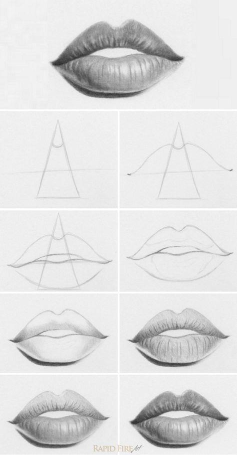 Tutorial: Wie zeichnet man Lippen? Ein sehr einfacher Weg, Lippen zu zeichnen. Sie können dies sogar verwenden