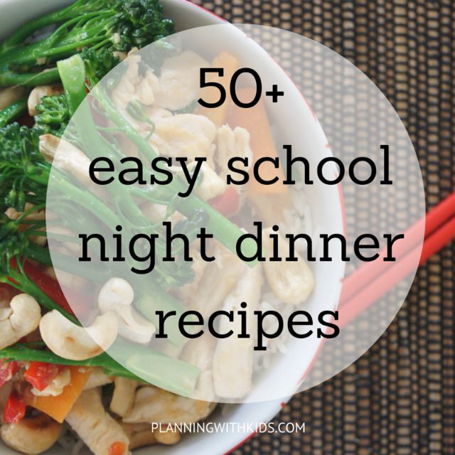 50+ recipes that are either quick to cook or you can cook ahead to help make dinner time easier.