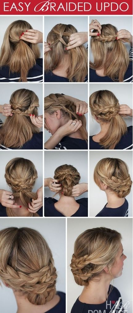 Easy Braided Updos For Shoulder Length Hair : The 25 best easy braided updo ideas on pinterest