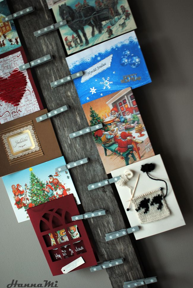 Hyvää joulua! Merry Christmas! Card holder DIY korttiteline