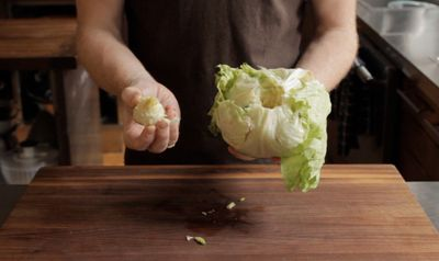 VIDEO: How to Core a Head of Iceberg Lettuce in 3 Seconds - I really can't believe it's that easy? :-S Have to try this.