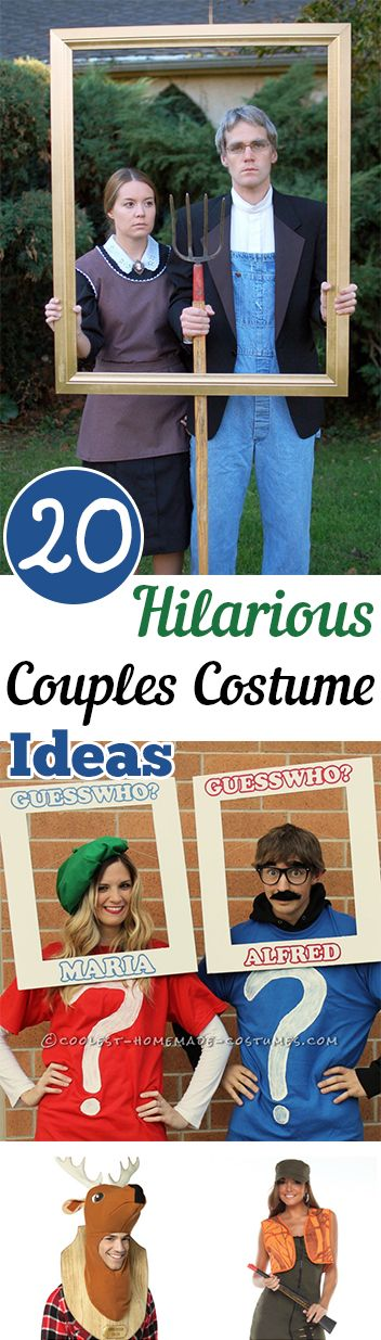 20 Hilarious Couples Halloween Costume Ideas.  Creative options for couples costumes for Halloween!