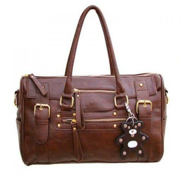 Fashionable Buckle and Zipper Design Women's Tote Bag, COFFEE in Tote Bags | DressLily.com