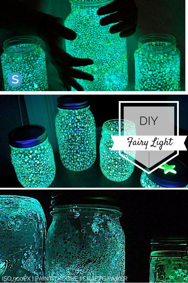 Easy tutorial to make your own Fairy Light out of a mason jar. http://simplemost.com/easy-diy-make-mason-jar-fairy-lights-with-your-children-2016-05?utm_campaign=social-account&utm_source=pinterest.com&utm_medium=organic&utm_content=pin-description