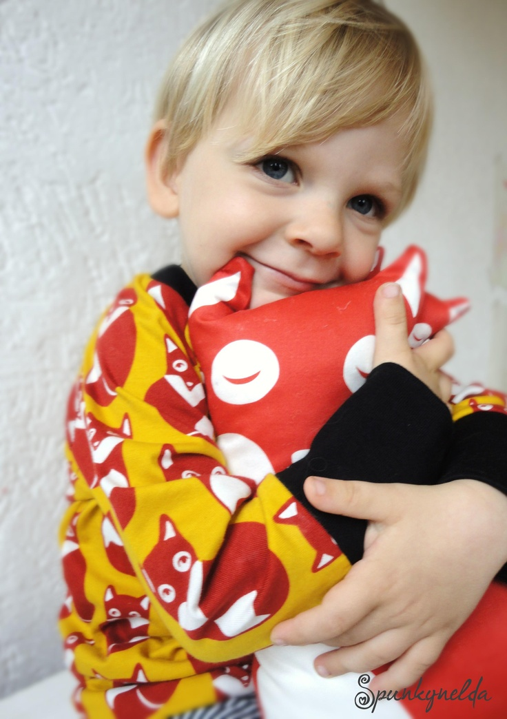 "so lovely, LA-Shirt ""fox"" from 100% organic cotton, cut by Spunkynelda, fabric by paapii design"