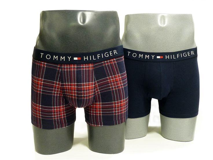 Pack de dos boxers en algodón elástizado a un PRECIO INCREÍBLE. Pensado como un regalo contiene una prenda en azul navy y el otro en cuadros rojos y marinos