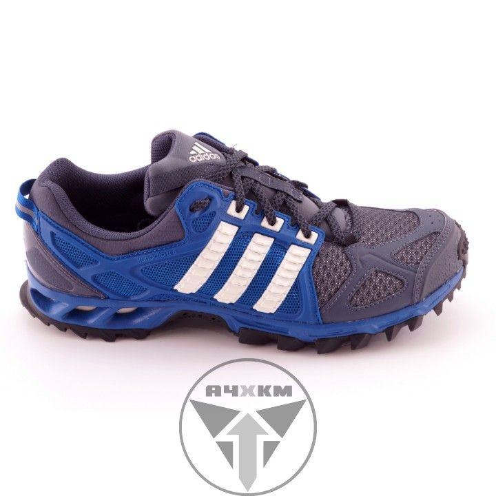 Zapatillas Adidas Kanadia TR 6 de trail running para hombre en color gris y azul. #adidas #trailrunning #kanadia