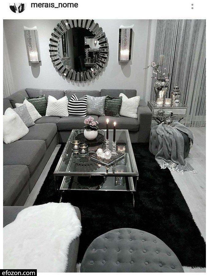 49 Comfy Apartment Living Room Decor Ideas Image 55 Of 55 Silver Living Room Apartment Living Room Living Room Decor Apartment
